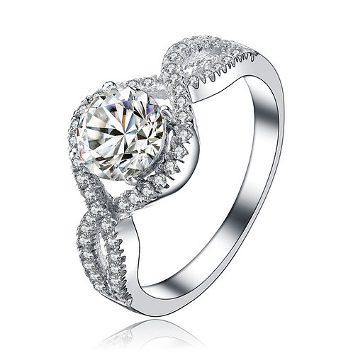 Sterling Silver Engagement Ring R1445