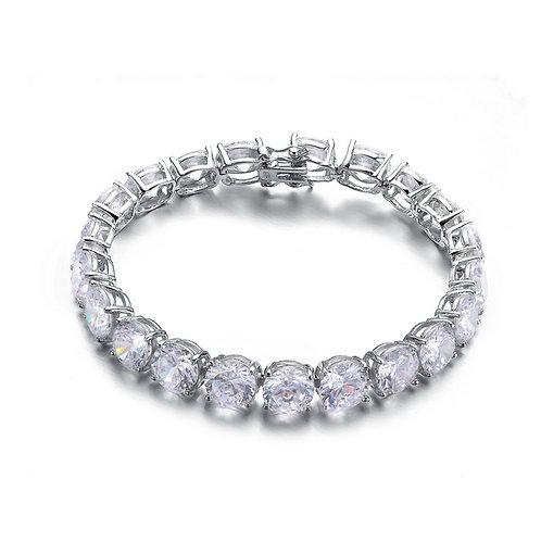 Sterling Silver Dazzling  8 MM Tennis Bracelet BR2025