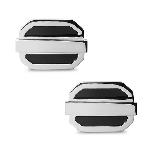Stainless Steel Black Oval Cuff Links CL-SC-2007