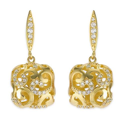 Gorgeous Brushed Gold drop Earrings CSE- EAR2121-GP