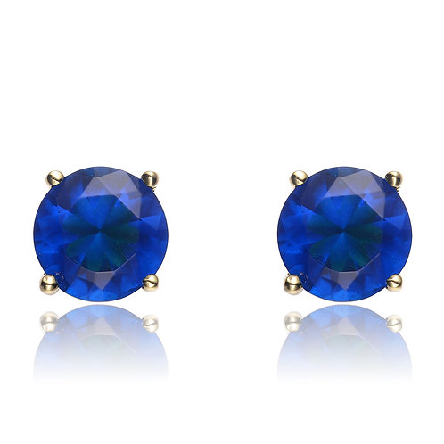 1.5ctw Yellow Toned Sapphire Style Stud Earrings TCSE-EAR600-7MM-S-GP