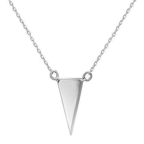 STERLING SILVER THIN FLAT TRIANGLE NECKLACE L-3771