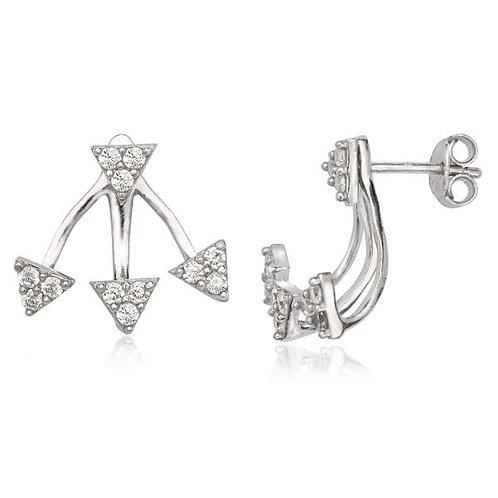 3 Pave triangle Peek-A-Boo Earring CSE-D-5569