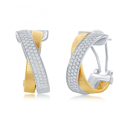 Designer Earrings, Set with 14K Gold TCE-D-6982