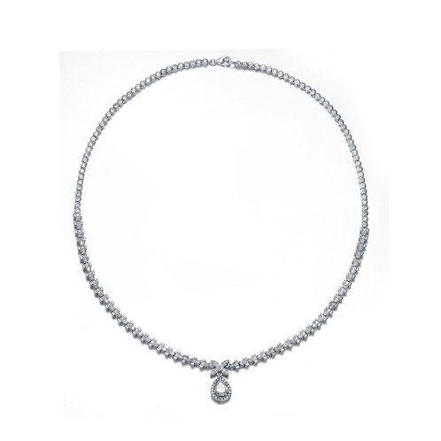 Elegant Small Tear Drop Tennis Necklace TN-NEC3206