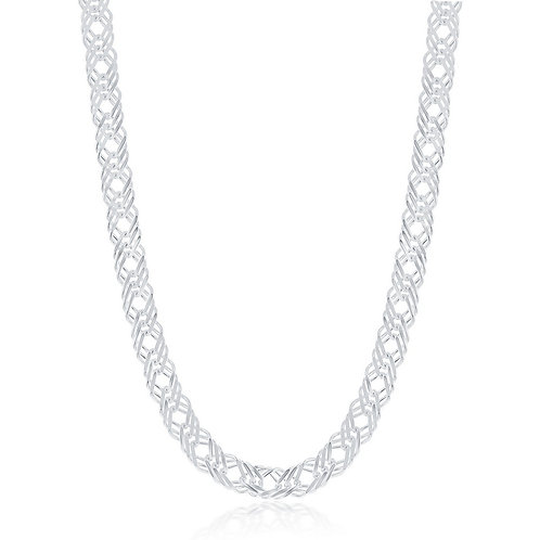 "Sterling Silver 6.8mm Triple Link Chain 18"" CL-Q-5579"