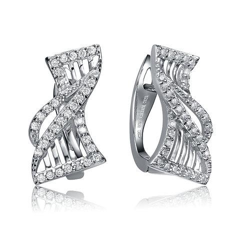 Sterling Silver Cubic Innovative Mix Earrings CSE-EAR3380