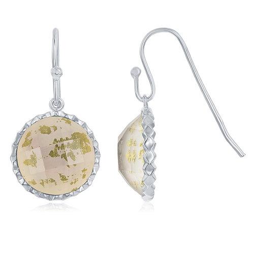 Sterling Silver Round MOP Doublet Earrings CL-D-6448