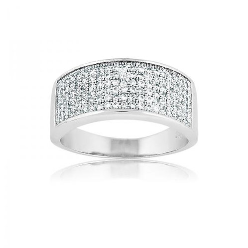 MICRO PAVE BAND RING W-9120