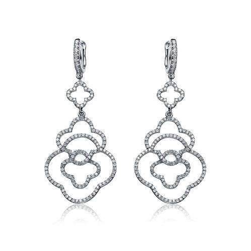 Pave Designer Inspired Drop Earrings TCE-EAR9056