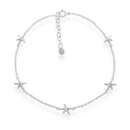 Sterling Silver Starfish Anklet ANK-R-9150