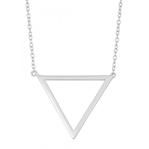 STERLING SILVER OPEN TRIANGLE NECKLACE L-3782