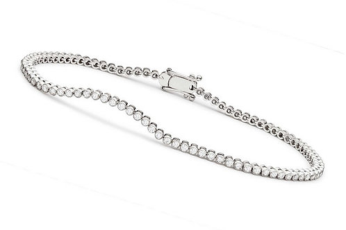 Bezel-set Bracelet Tennis Bracelet CL-BBR2090-4MM