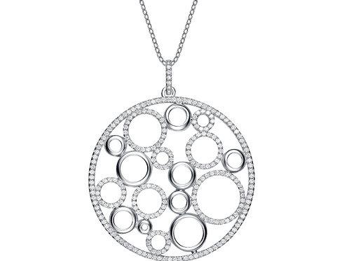 Sterling Silver Fancy Loops Design Pendant PEN8087