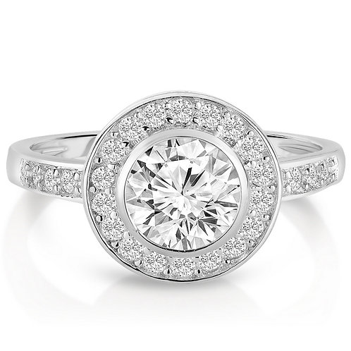 Classic Pave Set Halo Style Ring TCR-R6085