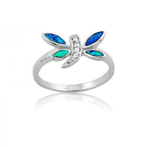 Dragon Fly Opal Ring W-9663