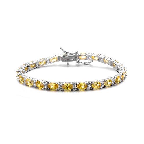 StunningOval Yellow Stone Tennis Bracelet TCB-BR2026-L-YC-RP