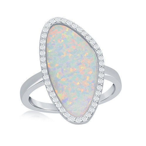 Sterling Silver White Inay Opal Fancy Ring CL-W-1972