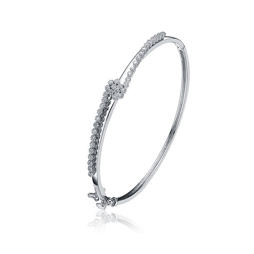 Sterling Silver Bracelet With Pave Swirl BR5120