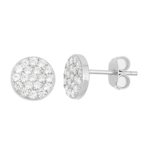 Sterling Silver Small Disc Stud Earrings CL-D-5936