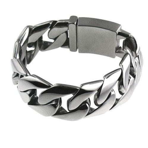 Stainless Steel Monster Link Bracelet MN-WS1014WCB