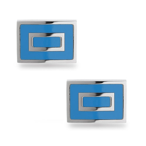 Stainless Steel Blue Square Cuff Links CL-SC-2006