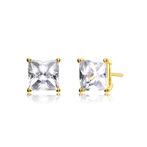 1.50ctw Yellow Toned Princess Cut Stud Earrings TCE-EAR191-5MM-GP
