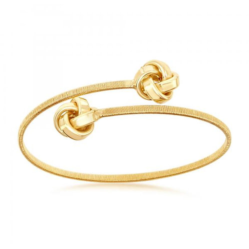 Sterling Silver Gold Plated Love Knot Wire Bangle CSB-U-6589