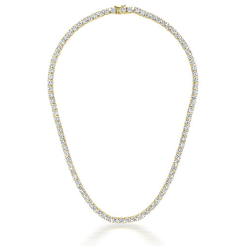 Sterling Silver Gold plated 4MM Tennis Necklace TN-NEC2037-GP