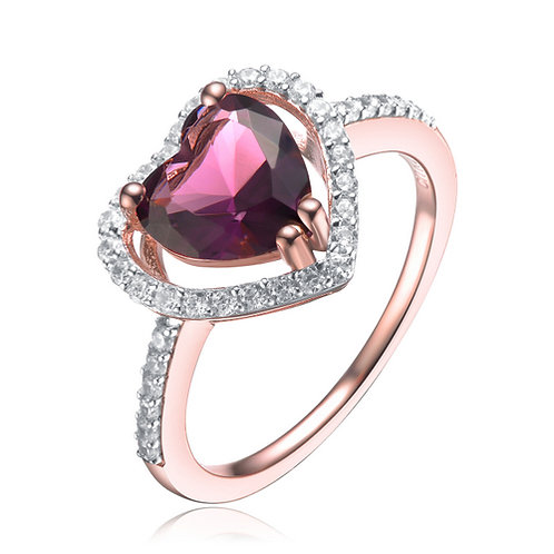 Heart Shaped Pink Toned Ring CL-R10003-A-ROSE