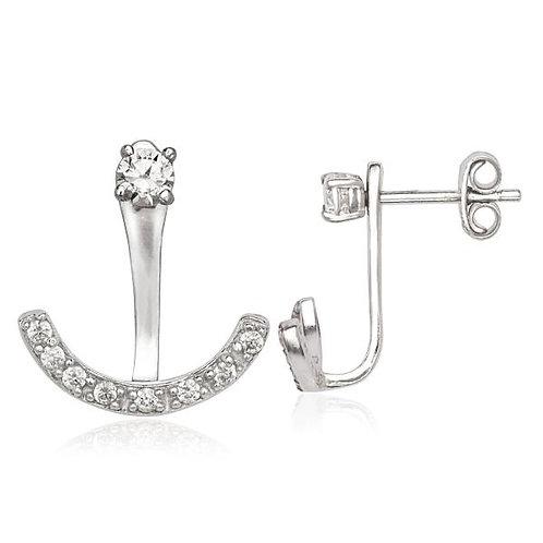 Sterling Silver Peek-A-Boo Style Earrings CSE-D-5564