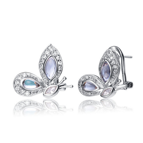 Sterling Silver Butterfly Earrings CSE-EAR699