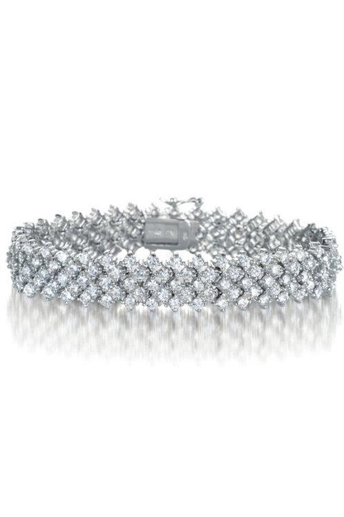 Gorgeous Double Row Stone Tennis Bracelet TB-BR560