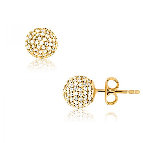 MICRO PAVE EARRINGS in yellow D-4398