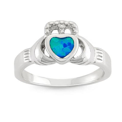 OPAL RING Claddagh Ring W-9563