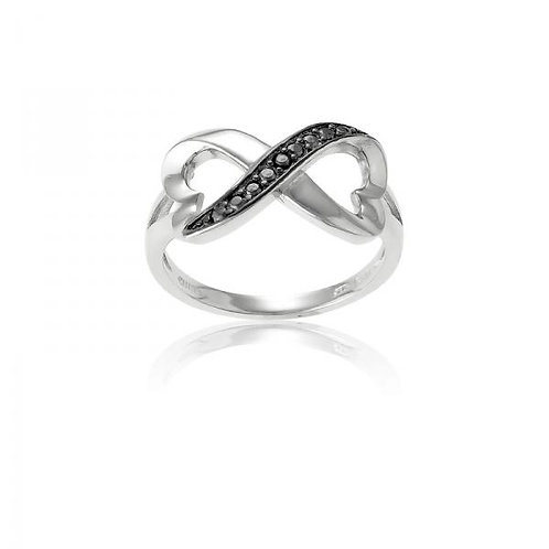 CZ RING Black Stone Infinity W-9687