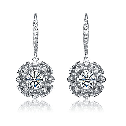Antique Style Simulated Diamond Earrings TE-EAR9230