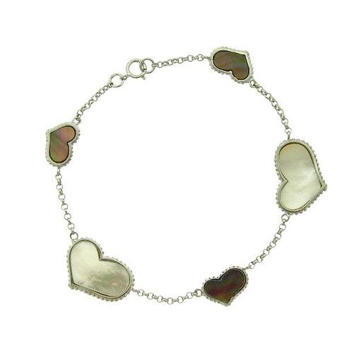 Mother of Pearl Heart Bracelet CSB-T-5308