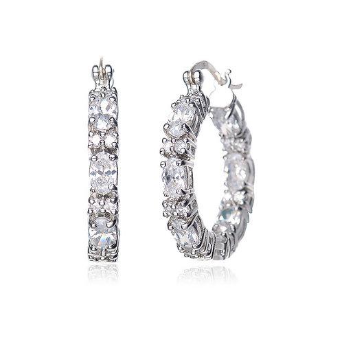 Sterling Silver Fancy Petite Hoop Earrings TCE-EAR2026