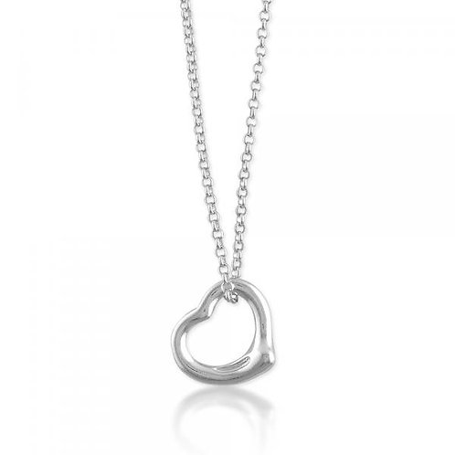 NECKLACE WITH FLOATING HEART PENDANT N-4139