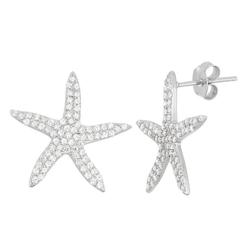 Sterling Silver Starfish Earrings CL-D-5938