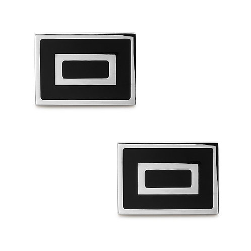 Stainless Steel Black Square Cuff Links CL-SC-2003