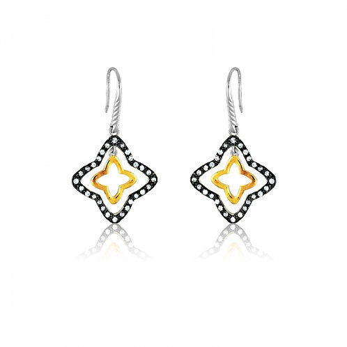 CZ STAR EARRINGS D-4399