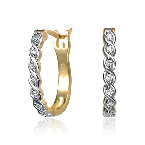 "Special ""S"" Designed Hoop Earrings CSE-EAR8420-gp"
