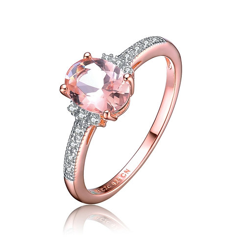Oval Morganite Stone Ring R146