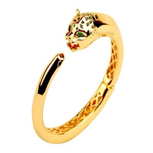 leopard head yellow gold Toned bangle