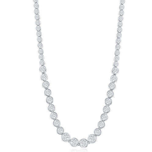 Sterling Silver Linked Circles Tennis Necklace TN-CZN-1056