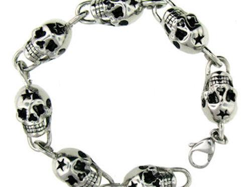 Stainless Steel Skull Bracelet MN-WS2006BCJ