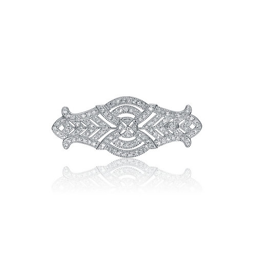 Sterling Silver Antique style Pave`Set Pin P-PIN217
