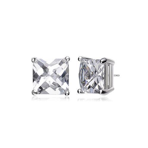 1.5ctw Princess Cut Sterling Silver Stud Earrings TCE-EAR191-3